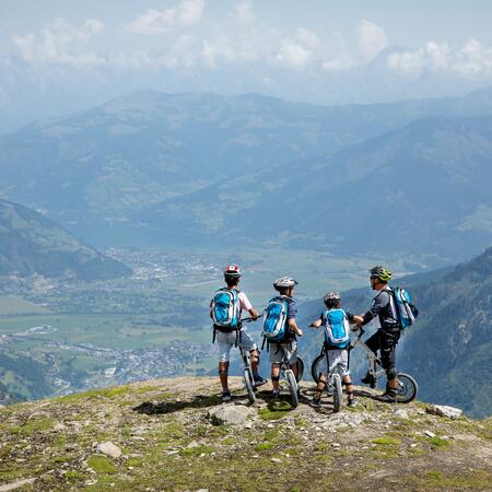 family holiday mountainbiking kaprun