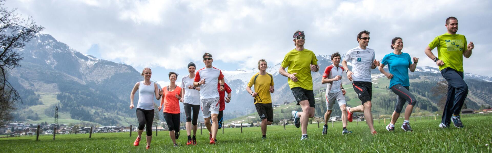 running group sports holiday zell am see-kaprun