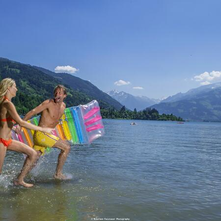 summer holiday swimming at the lake