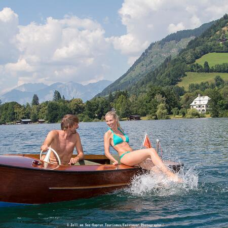 summer holiday at a lake austria