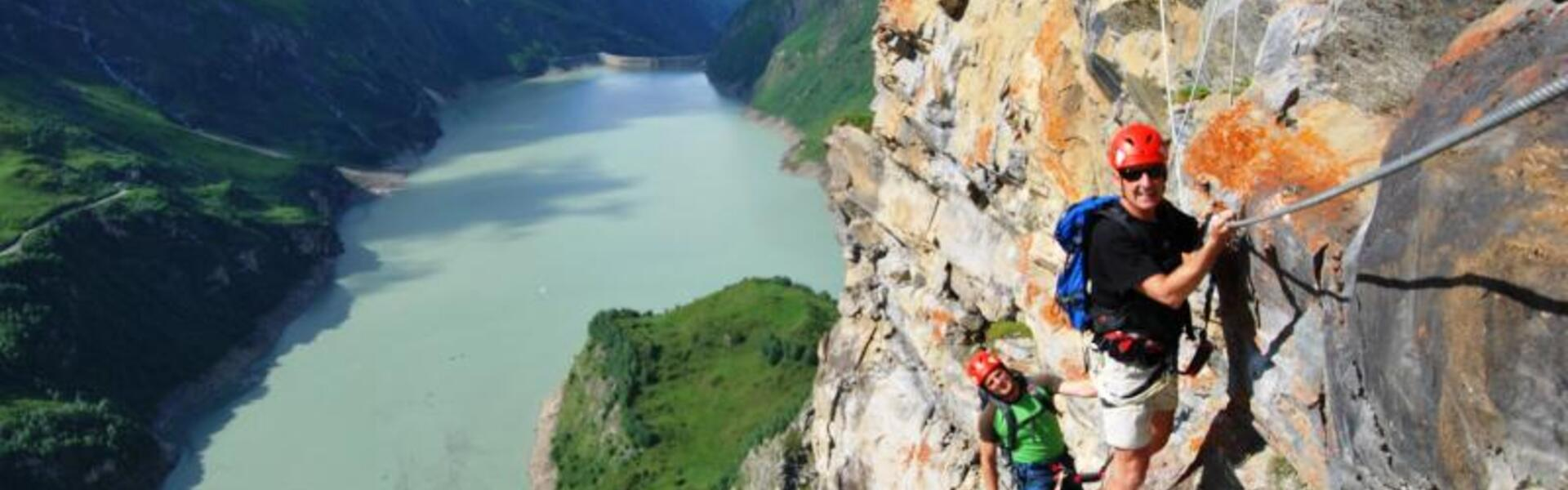 via ferrata vacationer