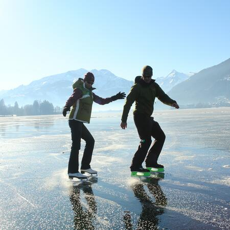 ice skating on lake zeller see
